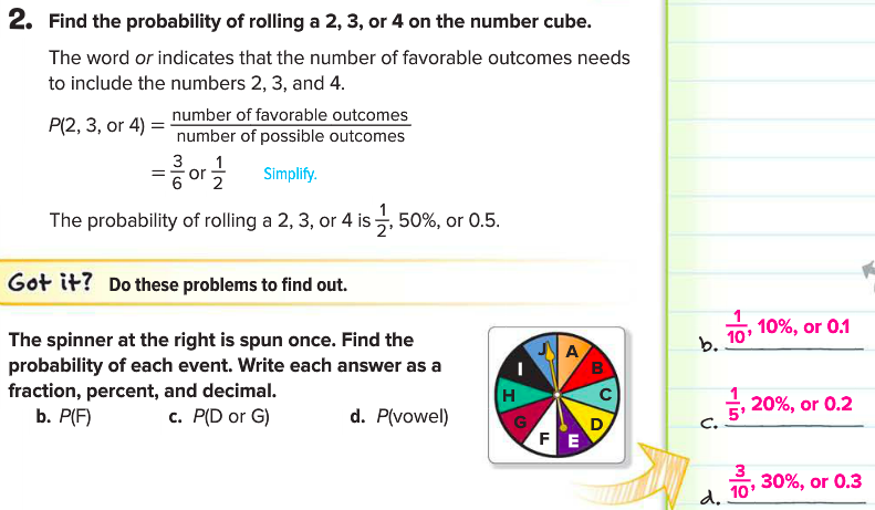 April 9 Notes - probability of simple events - Mrs